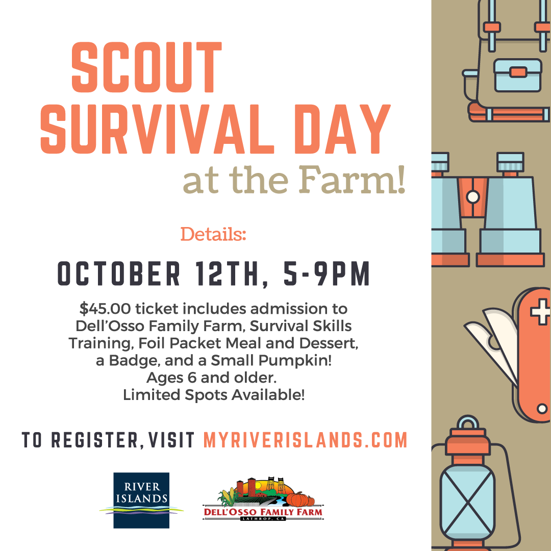 Join us for Scout Survival Day on the Dell'Osso Family Farm!