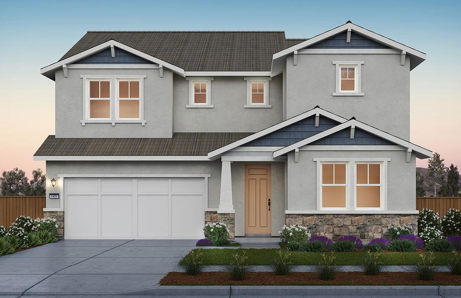 Roslyn Home at Sunset by Pulte Homes at River Islands