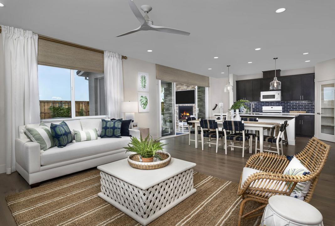Great Room at Catalina II by Kiper Homes at River Islands