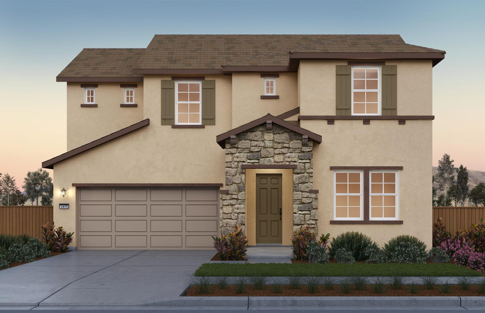 Sunset Elevation B at River Islands in Lathrop California