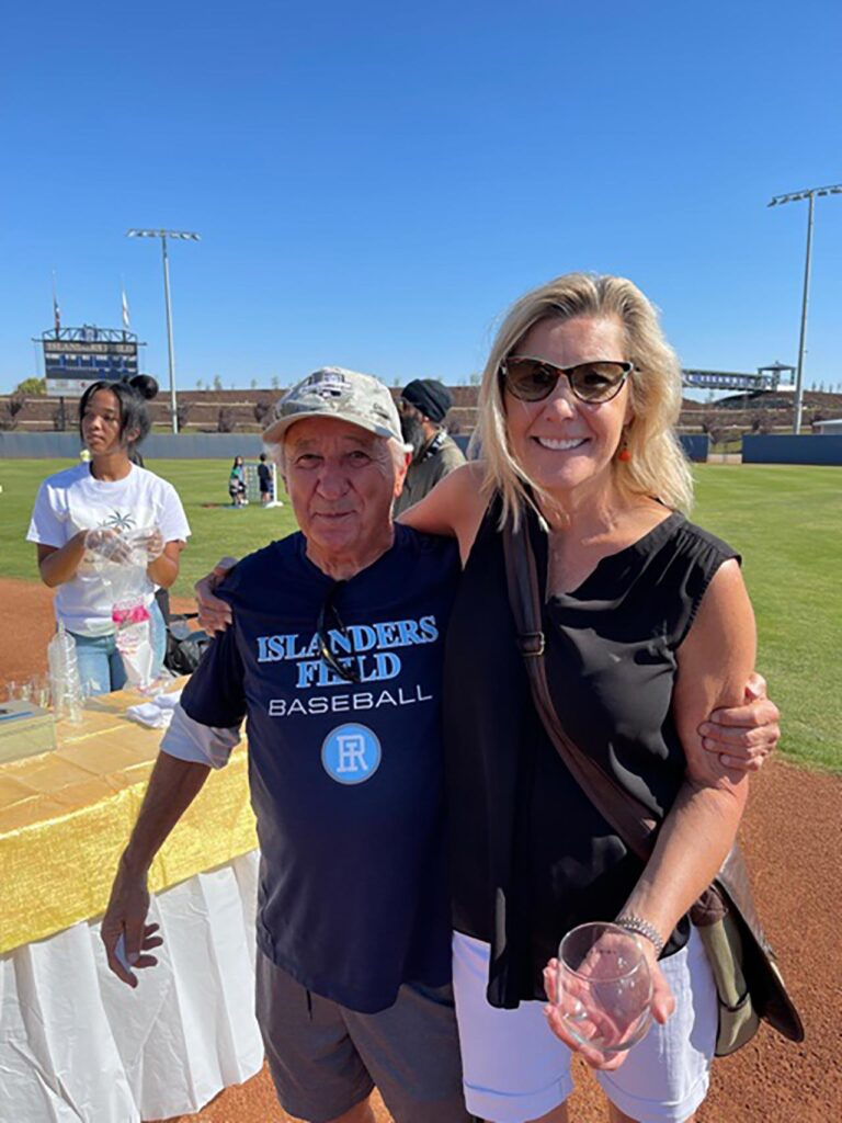 Don Johns and Susan Dell'Osso at Islanders Day